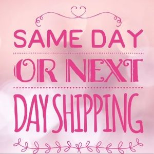 Same day or next day shipping 😃